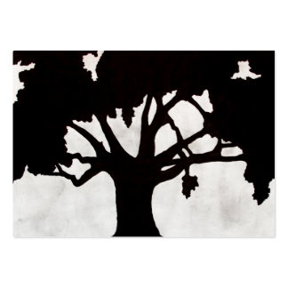 Tree Silhouette Business Card Templates