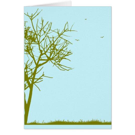 tree silhouette card