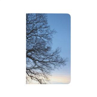 Tree Silhouette in a Blue Winters Sky Journal