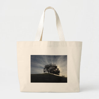 Tree Silhouette in Fall Sunset Canvas Bag