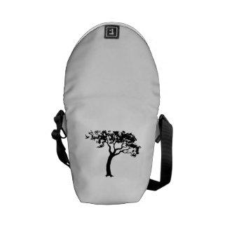 Tree Silhouette Messenger Bags