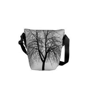 Tree Silhouette Messenger Bag