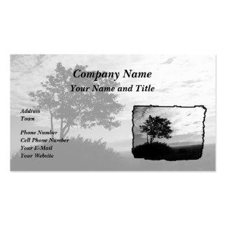 Tree Silhouette Monochrome Business Card