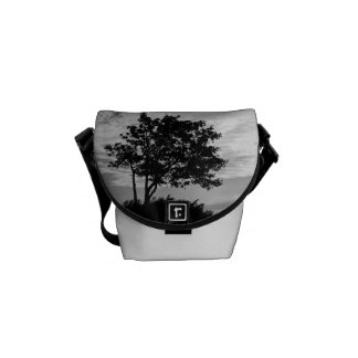 Tree Silhouette Monochrome Commuter Bag