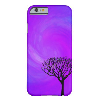 Tree Silhouette (Northern Lights) Barely There iPhone 6 Case