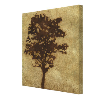 Tree Silhouette on Bronze Background Canvas Print