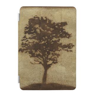 Tree Silhouette on Bronze Background iPad Mini Cover