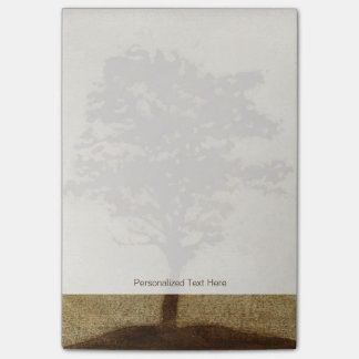 Tree Silhouette on Bronze Background Post-it® Notes