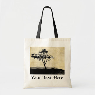 Tree Silhouette Photo Art Budget Tote Bag