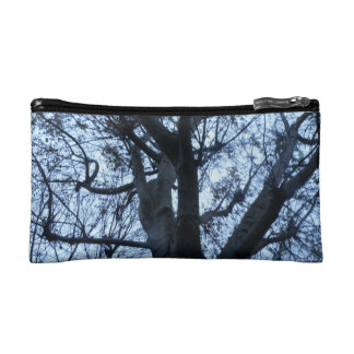 Tree Silhouette Photograph Cosmetic Bag