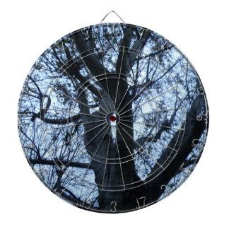 Tree Silhouette Photograph Dart Board