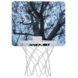 Tree Silhouette Photograph Mini Basketball Hoop