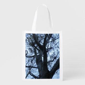 Tree Silhouette Photograph Reusable Bag