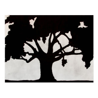 Tree Silhouette Postcard