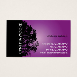 Tree Silhouette - Purple Business Card