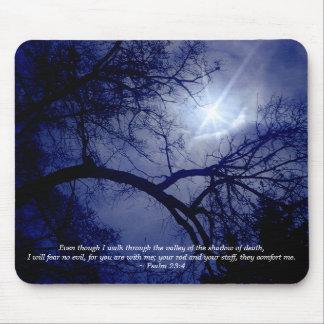Tree Silhouette Scripture Mousepad