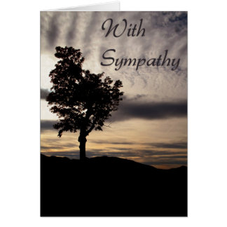 Tree Silhouette Sympathy Greeting Card