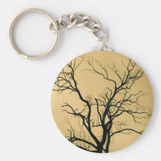 Tree Silhouette, Yellow - Key Chain