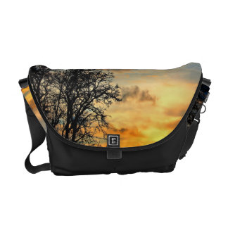 Tree Silhouettes at Sunset Messenger Bags