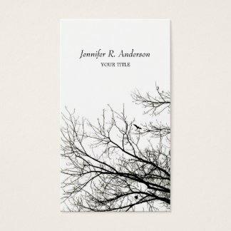 Tree Silhouettes business card