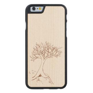 Tree sketch carved® maple iPhone 6 slim case