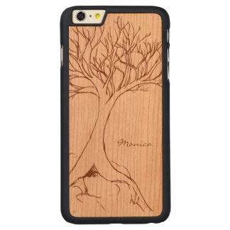 Tree Sketch - Personalized with Name - Carved® Cherry iPhone 6 Plus Case