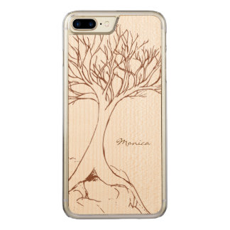Tree Sketch - with Name - Carved iPhone 7 Plus Case