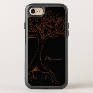 Tree Sketch - with Name - OtterBox Symmetry iPhone 7 Case