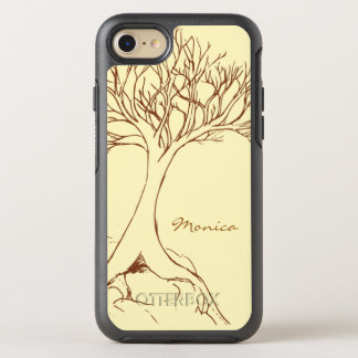 Tree Sketch - with Name - OtterBox Symmetry iPhone 8/7 Case
