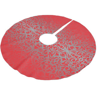 Tree Skirt Floral Abstract