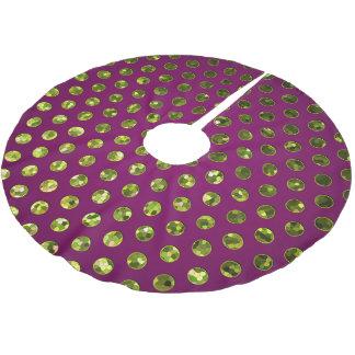 Tree Skirt Polka Dots Sparkley Jewels