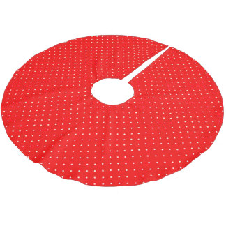 Tree Skirt Red with White Dots