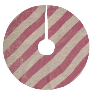 tree skirt rustic christmas holiday red stripe
