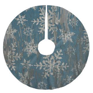 tree skirt rustic christmas holiday wood snowflake