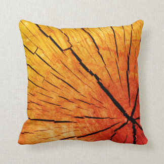 Tree slice design cushion