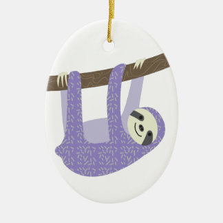 Tree Sloth Christmas Ornament