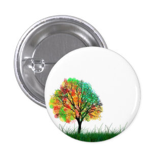 Tree Small, 1¼ Inch Round Button