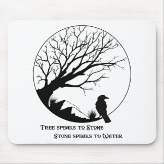 Tree Speaks to Stone Mouse Mats