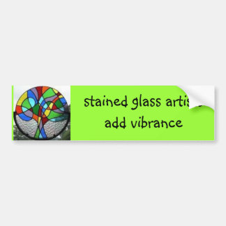tree, stained glass artists add vibrance bumper sticker