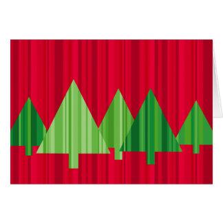 Tree Stripes Customizable Christmas Card