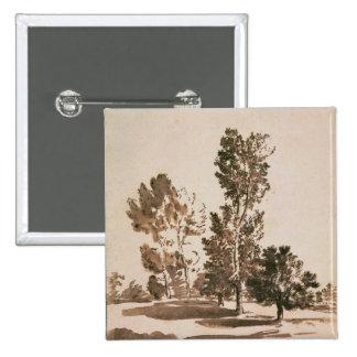 Tree Study (pen & ink on paper) 15 Cm Square Badge