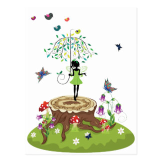 Tree Stump and Fairy 2 Postcard