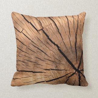 Tree Stump Texture Throw Pillow