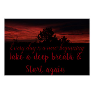 Tree Sunrise - New Beginning Poster