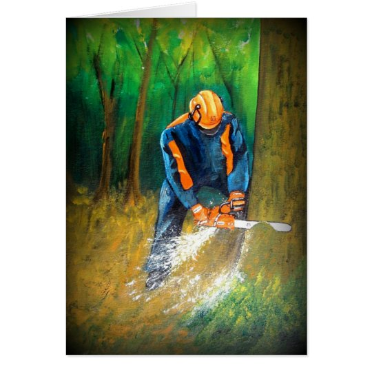 Tree Surgeon Arborist christmas present Birthday Card