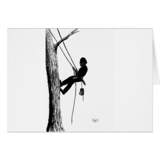 Tree Surgeon Arborist christmas present gift Card