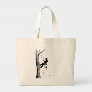Tree Surgeon Arborist christmas present gift Large Tote Bag