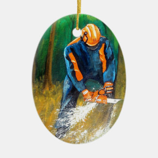 Tree Surgeon Arborist Forester Christmas Ornament
