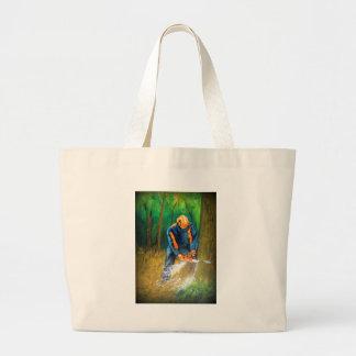 Tree Surgeon Arborist Forester Large Tote Bag