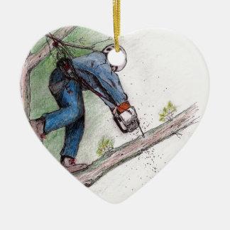 Tree Surgeon Arborist Lumberjack Christmas Ornament